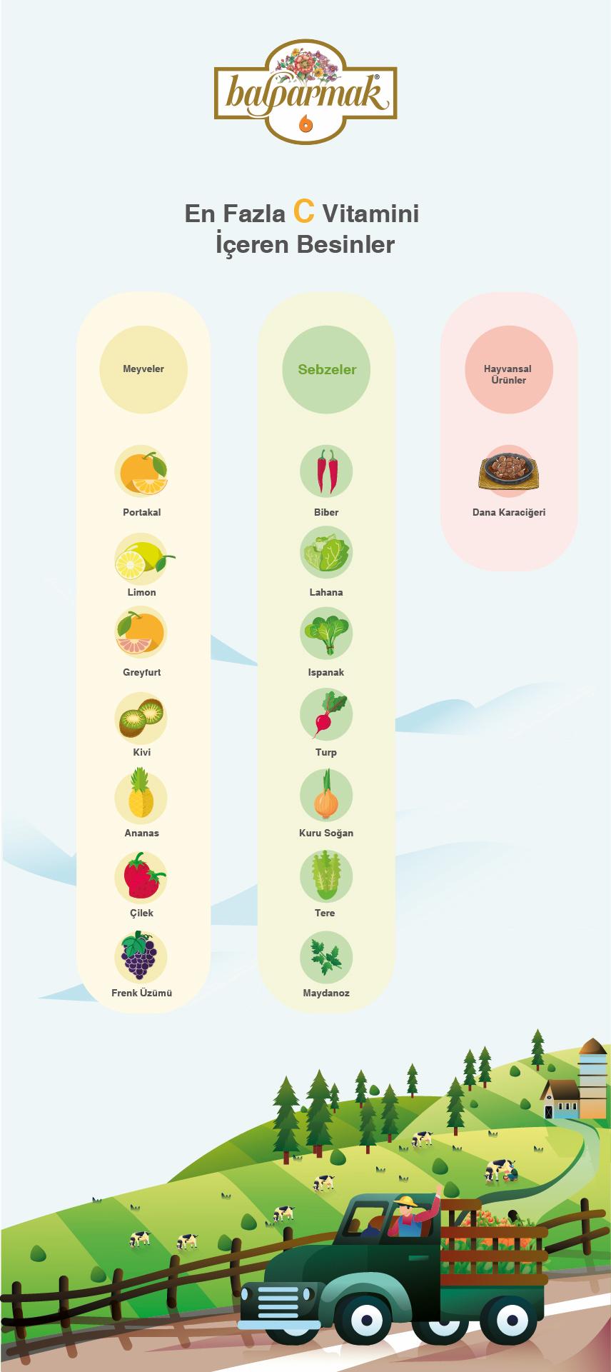 En fazla C vitamini içeren besinler