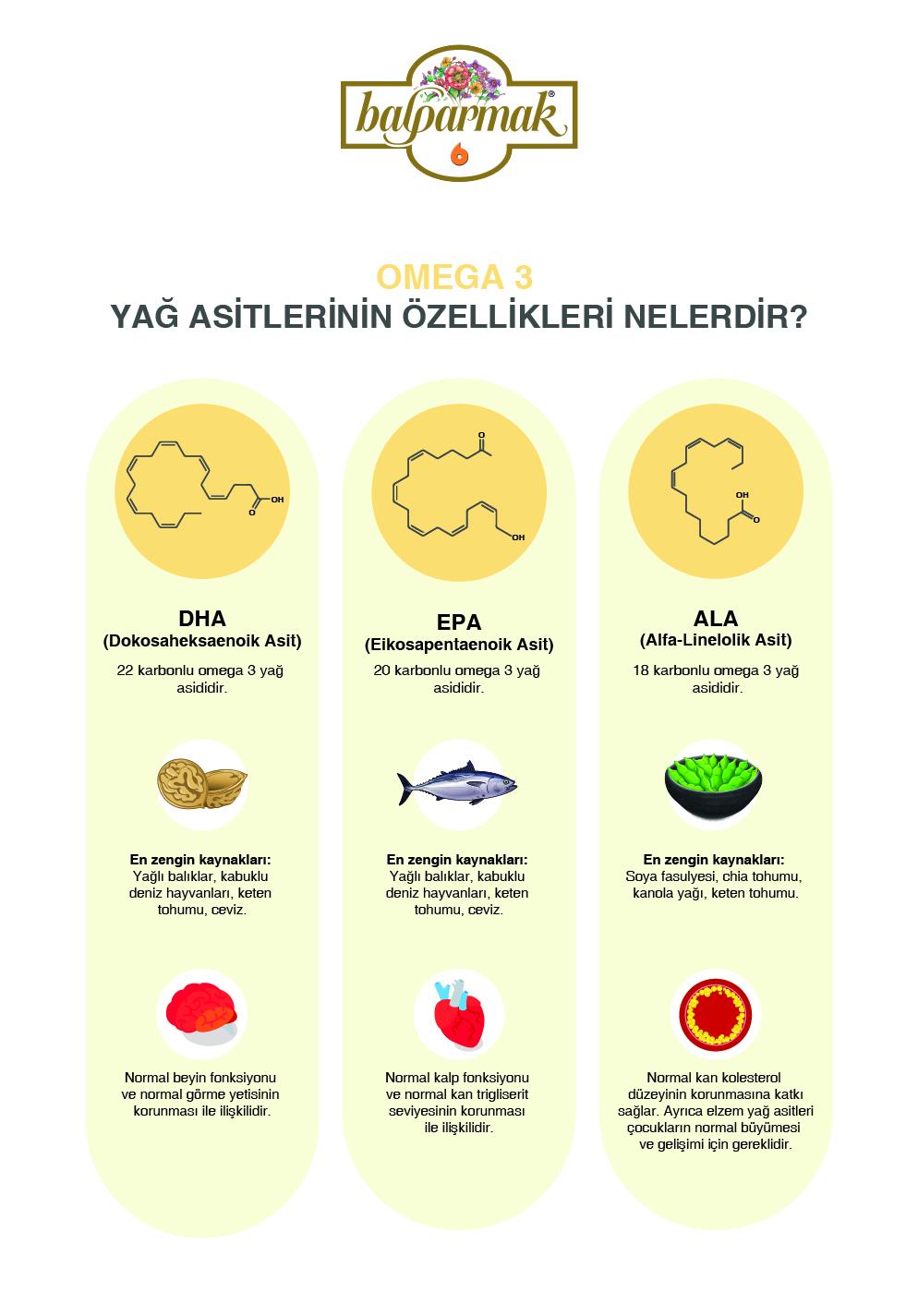 omega 3 yağ asitlerinin özellikleri nelerdir bilgi