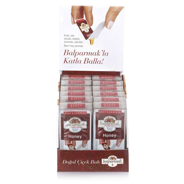 Balparmak Snap and Squeeze Blossom Honey 7 g x 7 Display Box (12 Pieces)